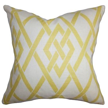 The Pillow Collection Abioye Geometric Throw Pillow; 18'' x 18''