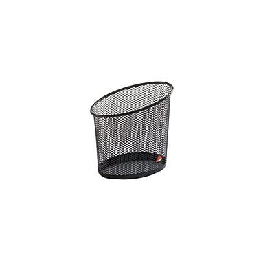 Alba Elliptical Mesh Pencil and Pen Holder, Black, 12/Pack