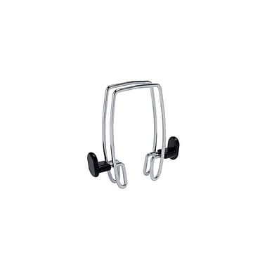 Alba 2-Hook Over-the-Panel Double Side Coat Hook, Chrome and Black, 12/Pack