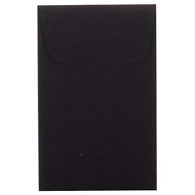 JAM Paper® #1 Coin Envelopes, 2.25 x 3.5, Black, 100/pack (352527801g)