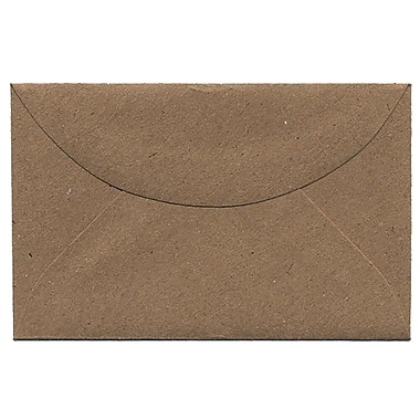 JAM Paper® 3drug Mini Small Envelopes, 2 5/16 x 3.63, Brown Kraft Paper Bag Recycled, 100/Pack (5207691A)