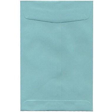 JamMD – Enveloppes à rabat gommé de 6 x 9 po, turquoise, 1000/bte
