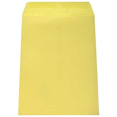 JAM Paper – Enveloppes pour catalogues, 9 x 12 po, jaune canari, 100/paquet