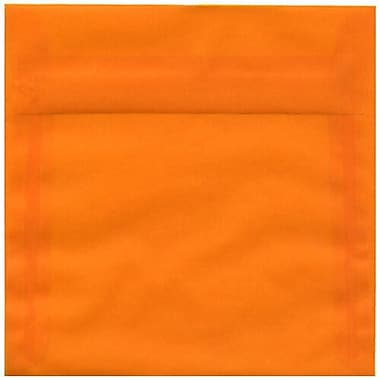 JAM Paper® 6.5 x 6.5 Square Envelopes, Orange Translucent Vellum, 100/Pack (2812710B)
