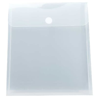 JAM Paper® Plastic Envelopes with Hook & Loop Closure, 1