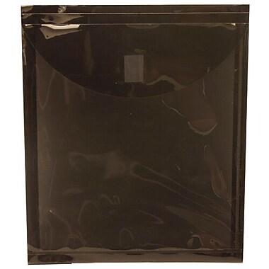 JamMD – Enveloppes-pochettes en plastique à fermeture velcro, 9 5/8 x 11 1/2 po, noir