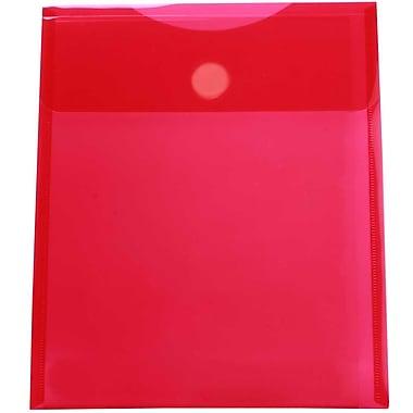 JAM PaperMD – Enveloppes en plastique format lettre à ouverture au sommet avec fermeture VELCROMD, 9 3/4 x 11 1/2, 24/paquet
