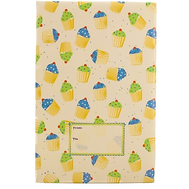 JAM Paper® Holiday Bubble Mailers, Small, 6 x 10, Party Cupcake Pattern, 6/pack (SS24SDM)