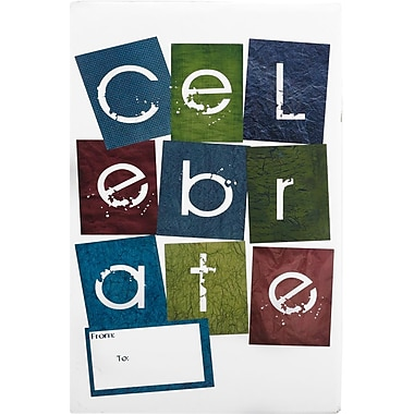 JAM Paper® Holiday Bubble Mailers, Medium, 8.5 x 12.25, Celebrate, 6/pack (SS22MDM)