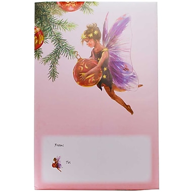 JAM Paper® Holiday Bubble Mailers, Large, 10.5 x 16, Christmas Fairy with Ornament, 6/Pack (SS34LDM)