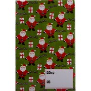 JAM Paper® Holiday Bubble Mailers, Medium, 8.5 x 12.25, Green Santa and Present Pattern, 6/pack (SS40MDM)