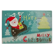"JAM Paper® Holiday Bubble Mailers, Small, 6"" x 10"", Santa on Sleigh Have a Merry Christmas, 6/pack (SS36SDM)"