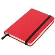 JAM Paper® Hardcover Lined Notebook With Elastic Closure, Small, 3 3/4 x 5 5/8 Journal, Red, Sold Individually (340526612)