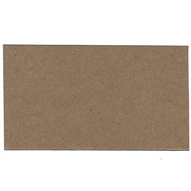 JAM Paper® Blank Note Cards, 3drug size, 2 x 3.5, Brown Kraft, 500/Pack (217512693B)