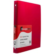 JAM Paper® Plastic 3 Ring Binder, 0.75 inch, Red, Sold Individually (750T1RE)