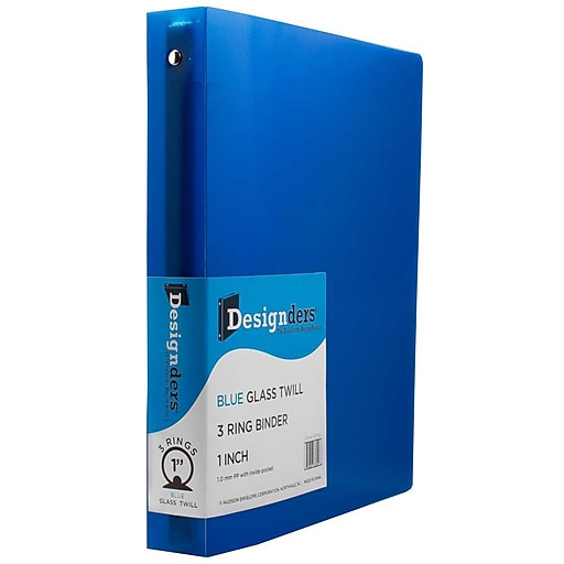 jam paper plastic 3 ring binder 1 inch blue sold individually