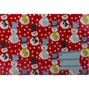 JAM Paper® Mailing Gift Box With Safety Lock, Medium, 8 3/4 x 5.5 x 12 1/4, Christmas Snowmen Design, 6/Pack (SS42MDB)