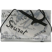 JAM Paper® Plastic Business Card Case, Clear /Black Art Institute of Chicago, Sold Individually (2500506)