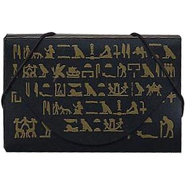 JamMD – Étui pour cartes professionnelles avec motifs du Brooklyn Museum, noir/doré, 100/paquet