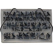 JAM Paper® Plastic Business Card Case, Brooklyn Museum Design Clear/Black, 100/pack (53667493B)