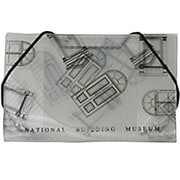JAM Paper® Plastic Business Card Case, National Building Museum Design Clear/Black, Sold Individually (366662)