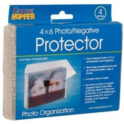 JAM Paper® Photo Organizer Protector Case, Clear, 4/pack (3236618866)