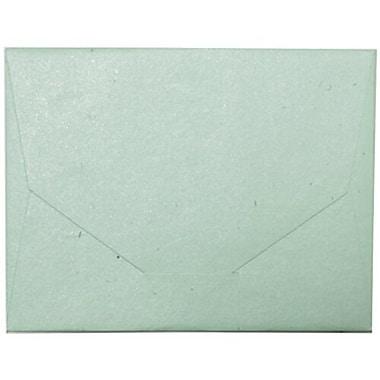 JamMD – Grandes enveloppes format livret artisanales indiennes à fini métallique, 10 x 13 po, vert pastel, 500/paquet