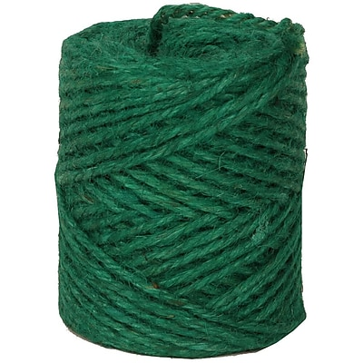 JAM Paper® Kraft Twine, 73 Yards, Green, Sold Individually (67825361)