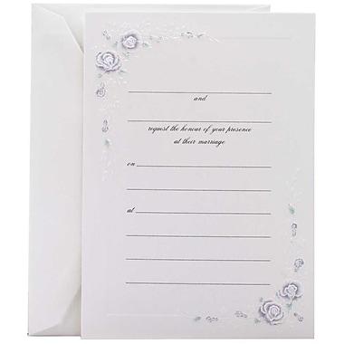 JAMMD – Ensemble d'invitations de mariage à remplir avec 25 cartes et enveloppes, rose bleue