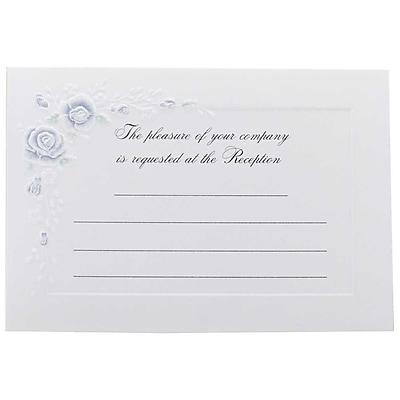 JAM Paper® Fill-in Wedding Reception Card Set, Blue Rose, 25/pack (354628225)