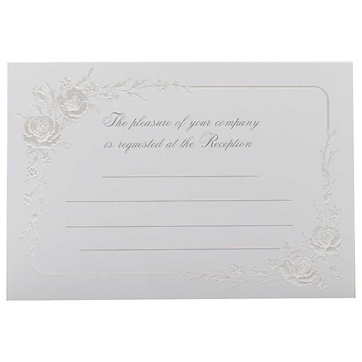 Printing Wedding Invitations At Staples: JAM Paper® Fill-in Wedding Reception Card Set, Shiny