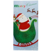 JAM Paper® Christmas Money Cards Set, Merry Christmas Santa, set of 6 (95227791)
