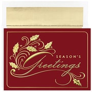 JAM Paper® Christmas Holiday Cards Set, Winter Wonderland Season's Greetings, 16/pack (526M0673MB)
