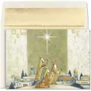 JAM Paper® Christmas Holiday Cards Set, Offering Gifts, 16/pack (52676270)