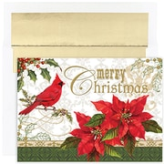 JAMMD – Ensemble de cartes de Noël Peace and Joy comprenant 16 cartes et enveloppes, « Merry »