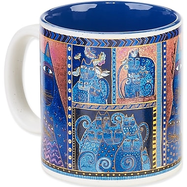 Laurel Burch® Artistic Collection Mug, Indigo Cats Portrait