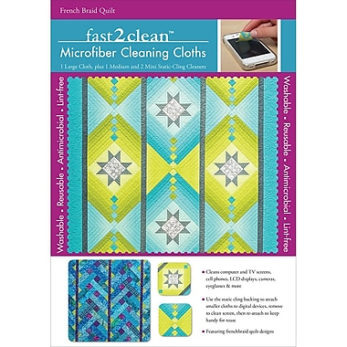 C&T Publishing Fast2Clean French Braid Quilt Microfiber Cleaning Cloth