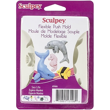 Polyform Sea Life Sculpey Flexible Push Clay Mold