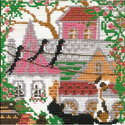 RIOLIS City & Cats Summer Counted Cross Stitch Kit 1437693