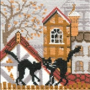 RIOLIS City & Cats Autumn Counted Cross Stitch Kit