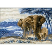 RIOLIS Elephants in the Savannah Counted Cross Stitch Kit