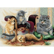 RIOLIS Feline Family Counted Cross Stitch Kit, Multicolor