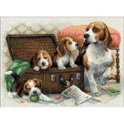 RIOLIS Canine Family Counted Cross Stitch Kit