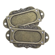 Fabscraps Brass Embellishments, Filigree Name Plate