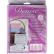 Denise Needles™ Interchangeable Knitting Needles Kit W/Pastel Colored Needles, Pink Case
