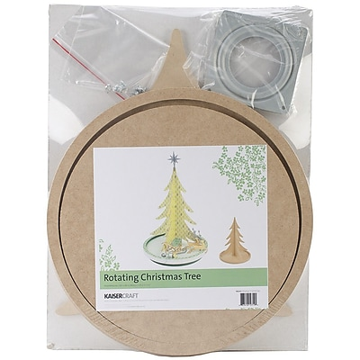 Kaisercraft Beyond The Page MDF Rotating Christmas Tree, 14 3/4