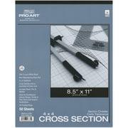 "Pro Art Cross Section Pad, 8 1/2"" x 11"" - 4 x 4 Grid"