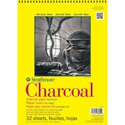 "Strathmore® 64 lbs. Charcoal Paper Pad, 9"" x 12"", White"