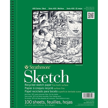 Strathmore® 60 lbs. Recycled Sketch Paper Pad, 5 1/2