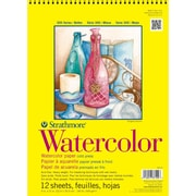 "Strathmore® 140 lbs. Cold Pressed Watercolor Wire Paper Pad, 9"" x 12"""